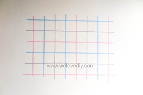 DIY 紙膠帶月曆 開學季 租屋族的家居裝飾 (8)