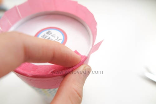 DIY 開學季紙膠帶廢物利用餅乾包裝紙盒做筆筒 (10)