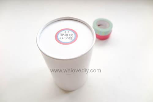 DIY 開學季紙膠帶廢物利用餅乾包裝紙盒做筆筒 (2)