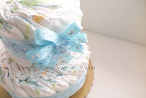 DIY Diaper Cake 手作尿布蛋糕彌月禮 探新生兒孕婦禮物 (15)