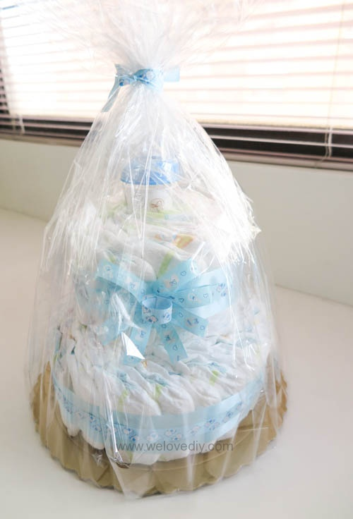 DIY Diaper Cake 手作尿布蛋糕彌月禮 探新生兒孕婦禮物 (16)