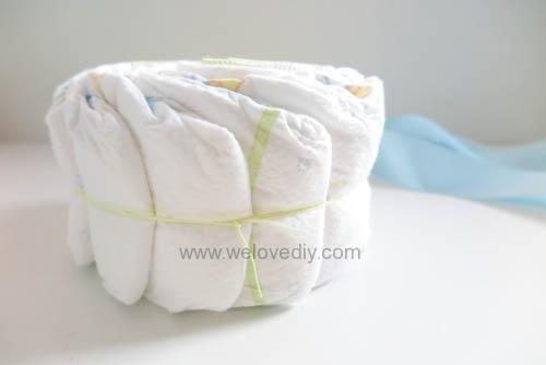 DIY Diaper Cake 手作尿布蛋糕彌月禮 探新生兒孕婦禮物 (3)