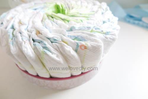 DIY Diaper Cake 手作尿布蛋糕彌月禮 探新生兒孕婦禮物 (7)