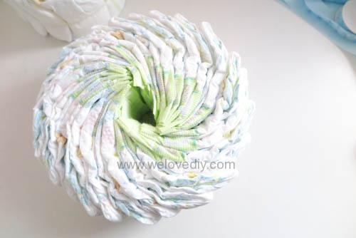 DIY Diaper Cake 手作尿布蛋糕彌月禮 探新生兒孕婦禮物 (8)
