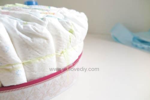 DIY Diaper Cake 手作尿布蛋糕彌月禮 探新生兒孕婦禮物 (9)