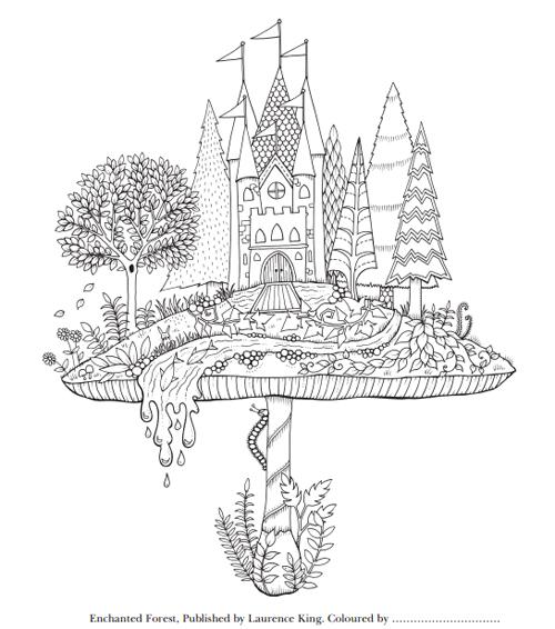 Enchanted Forest 魔法森林 秘密花園第二集大人著色畫圖檔下載
