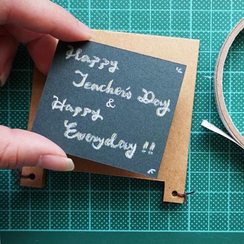 DIY 教師節小黑板造型手工卡片教學 (9)