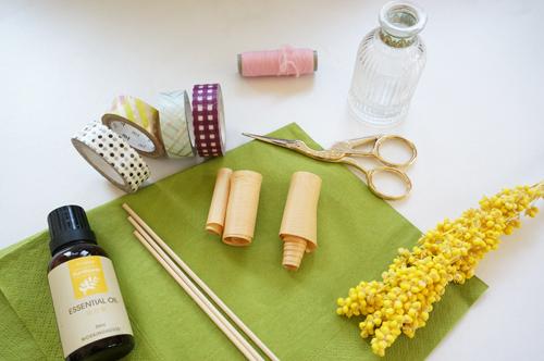 DIY 檜木刨花擴香瓶 (1)