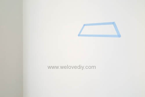 DIY 開學季紙膠帶鑽石宿舍租屋牆壁裝飾 (2)