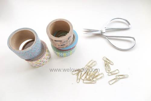 DIY DAISO washi tape 大創紙膠帶裝飾迴紋針 (1)