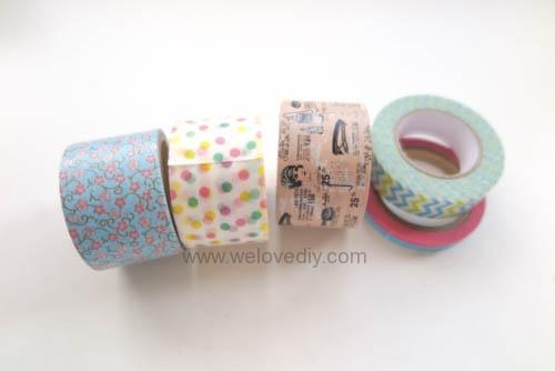 DIY DAISO washi tape 大創紙膠帶裝飾迴紋針 (2)