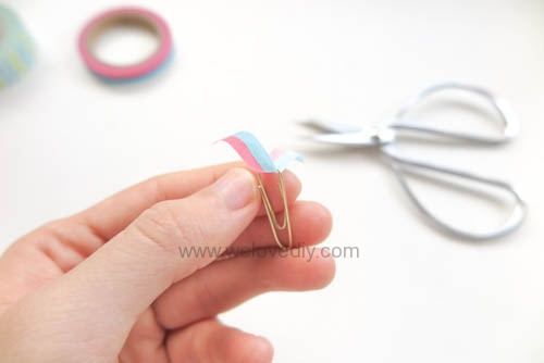 DIY DAISO washi tape 大創紙膠帶裝飾迴紋針 (4)