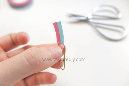 DIY DAISO washi tape 大創紙膠帶裝飾迴紋針 (5)