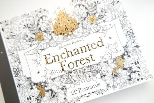Enchanted Forest Postcards 20 Postcards 大人的著色書魔法森林秘密花園第二集明信片組 (2)