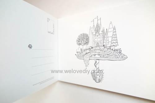 Enchanted Forest Postcards 20 Postcards 大人的著色書魔法森林秘密花園第二集明信片組 (6)