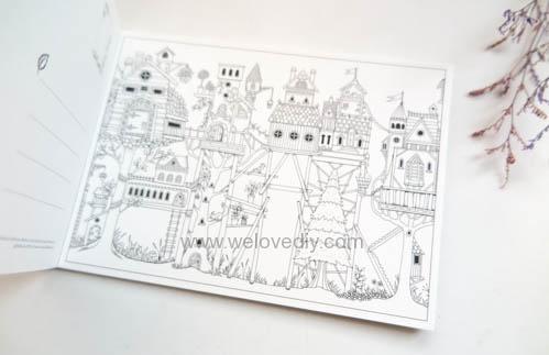 Enchanted Forest Postcards 20 Postcards 大人的著色書魔法森林秘密花園第二集明信片組 (7)