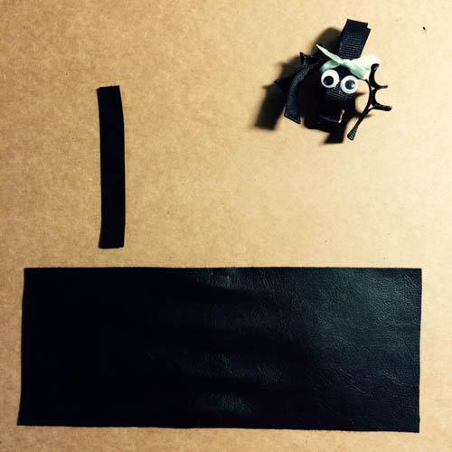 DIY 秝羽手作 萬聖節蝙蝠蝴蝶結髮箍 (2)