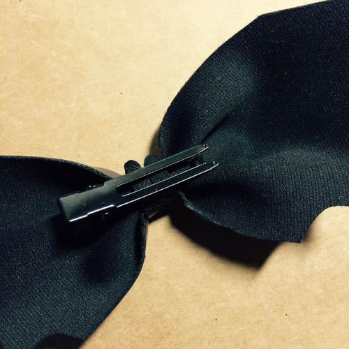 DIY 秝羽手作 萬聖節蝙蝠蝴蝶結髮箍 (6)
