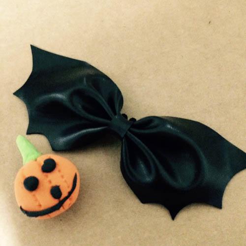 DIY 秝羽手作 萬聖節蝙蝠蝴蝶結髮箍 (7)