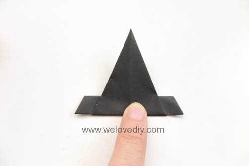 DIY 萬聖節南瓜巫婆帽摺紙教學 (1)