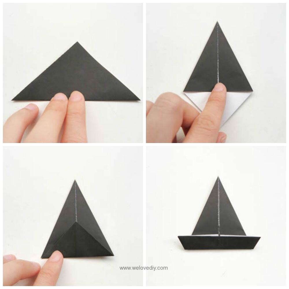DIY 萬聖節南瓜巫婆帽摺紙教學 (3)