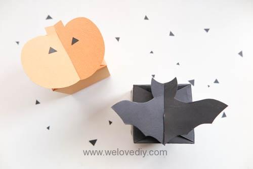 DIY 萬聖節應景蝙蝠南瓜糖果禮物包裝盒