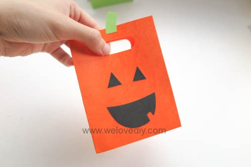 DIY 萬聖節手作應景南瓜造型紙袋禮物包裝 (12)