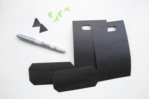 DIY 萬聖節手作應景黑貓造型紙袋禮物包裝 (13)