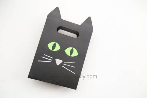 DIY 萬聖節手作應景黑貓造型紙袋禮物包裝 (14)