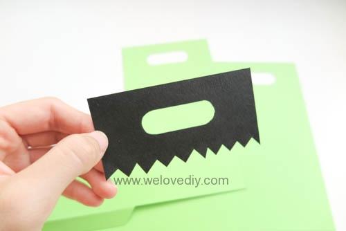 DIY 萬聖節手作應景 Frankenstein 科學怪人紙袋禮物包裝 (1)