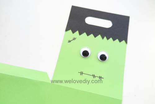 DIY 萬聖節手作應景 Frankenstein 科學怪人紙袋禮物包裝 (3)