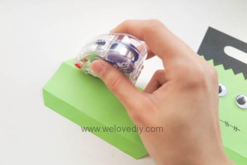 DIY 萬聖節手作應景 Frankenstein 科學怪人紙袋禮物包裝 (6)