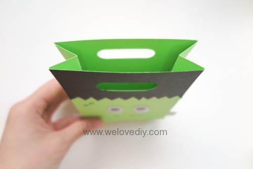 DIY 萬聖節手作應景 Frankenstein 科學怪人紙袋禮物包裝 (8)