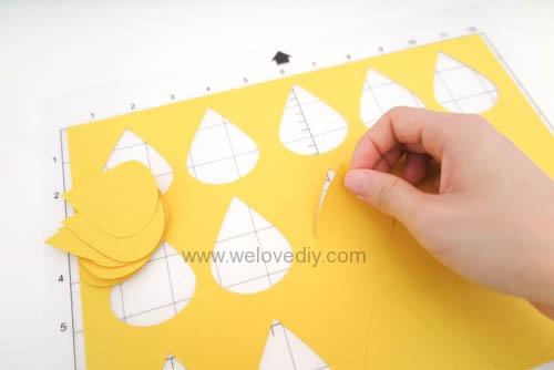 DIY GCC iCraft 手作拼貼切割機紙做立體下雨天吊飾 (1)