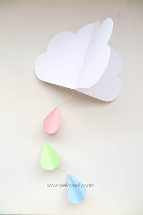 DIY GCC iCraft 手作拼貼切割機紙做立體下雨天吊飾 (10)