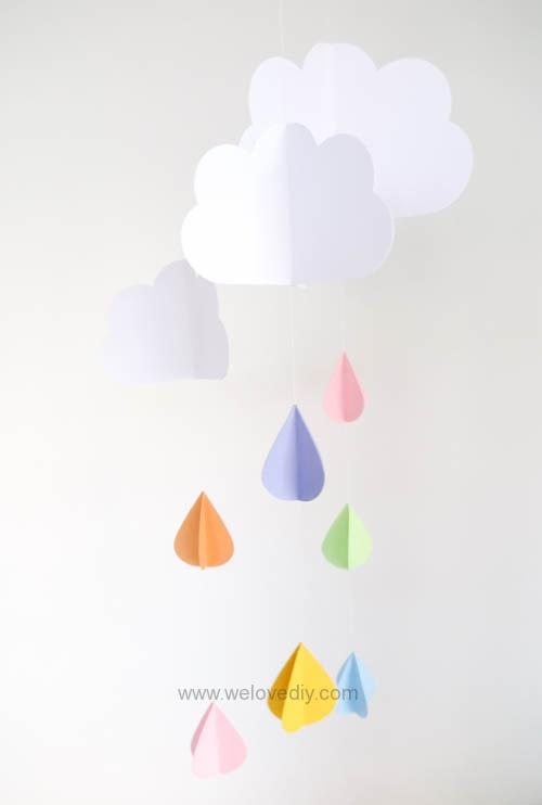 DIY GCC iCraft 手作拼貼切割機紙做立體下雨天吊飾 (12)