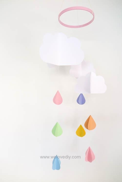 DIY GCC iCraft 手作拼貼切割機紙做立體下雨天吊飾 (13)
