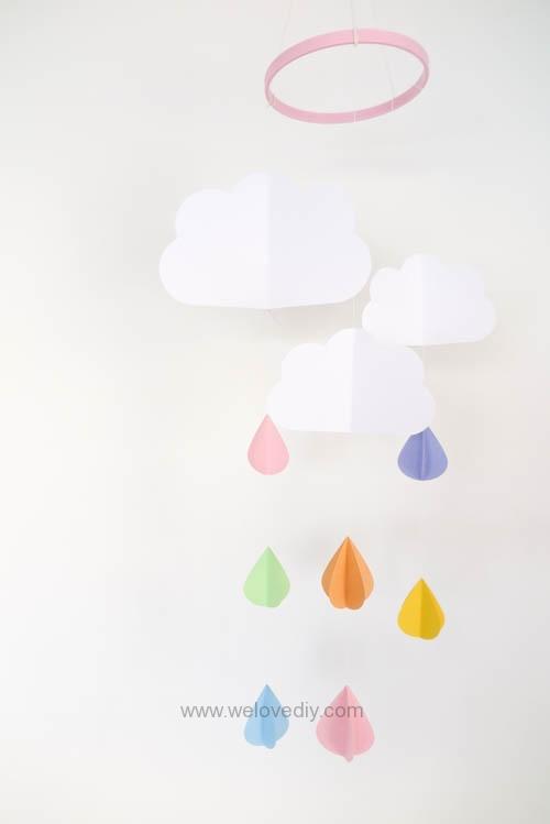 DIY GCC iCraft 手作拼貼切割機紙做立體下雨天吊飾 (14)