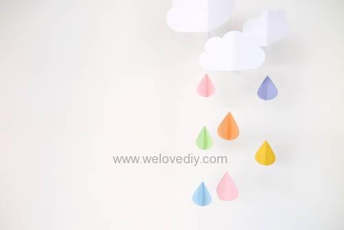 DIY GCC iCraft 手作拼貼切割機紙做立體下雨天吊飾 (15)
