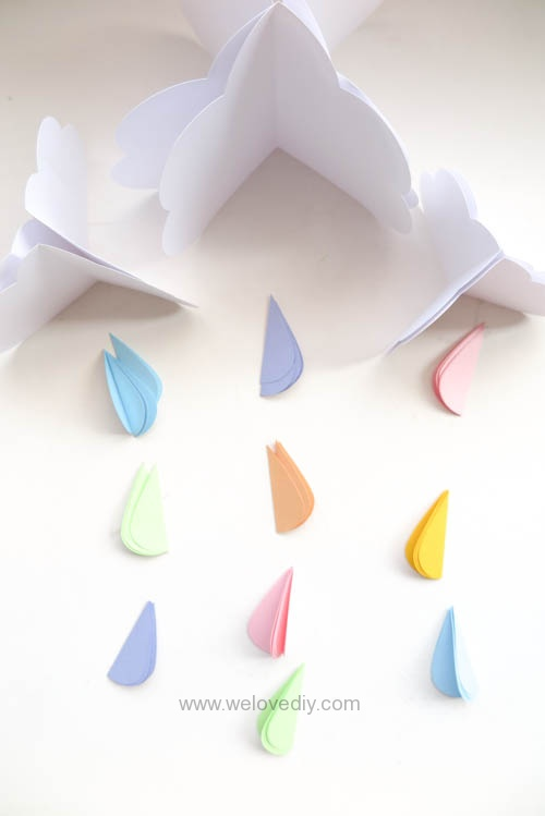 DIY GCC iCraft 手作拼貼切割機紙做立體下雨天吊飾 (5)