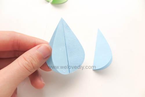 DIY GCC iCraft 手作拼貼切割機紙做立體下雨天吊飾 (8)