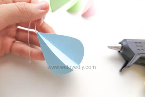DIY GCC iCraft 手作拼貼切割機紙做立體下雨天吊飾 (9)