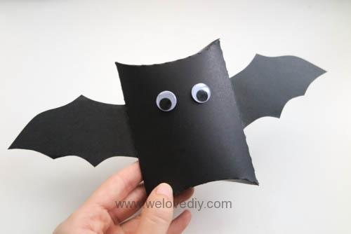 DIY Halloween Bat Pillow box 萬聖節派盒禮物包裝蝙蝠造型