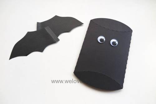 DIY Halloween Bat Pillowbox 萬聖節派盒禮物包裝蝙蝠造型 (1)