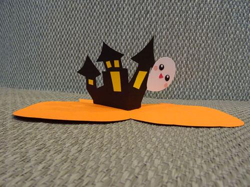 DIY Halloween Haunted House Card 萬聖節南瓜鬼屋立體卡片教學 胖蝴蝶的手作花園 (22)