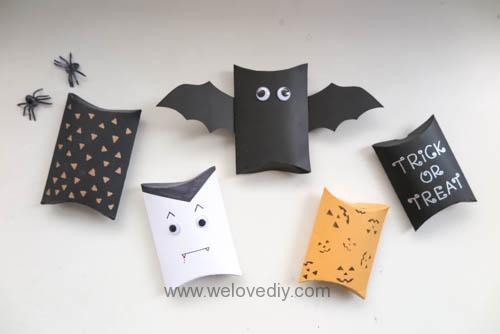 DIY Halloween Pillow box 萬聖節派盒禮物包裝