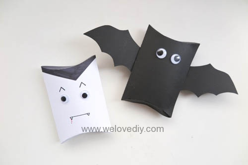 DIY Halloween Pillowbox 萬聖節派盒禮物包裝蝙蝠德古拉吸血鬼造型