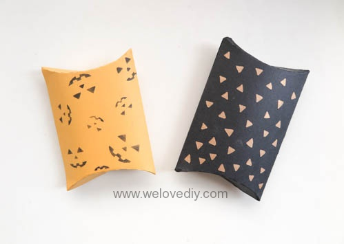 DIY Halloween Pillowbox 萬聖節派盒禮物包裝 (1)