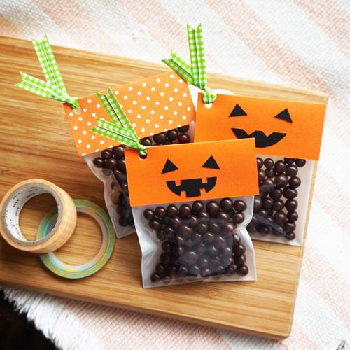 DIY Halloween Pumpkin Candy Favor Bag 萬聖節糖果包裝 Chuan Handmade (1)