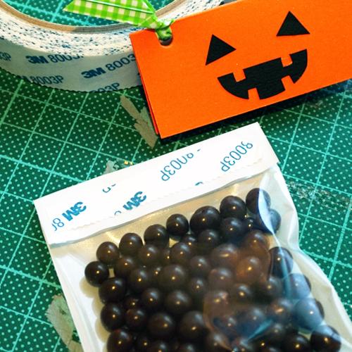 DIY Halloween Pumpkin Candy Favor Bag 萬聖節糖果包裝 Chuan Handmade (16)